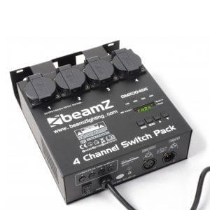 Beamz DMX512 4 CHANNEL DMX SWITCHPACK