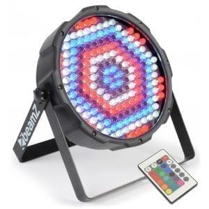 Beamz LED PAR 64 FLATPAR 186X 10MM RGBW DMX IRC