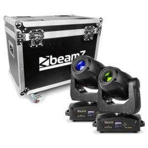 Beamz IGNITE180 LED MOVING HEAD SPOT 2PC IN FLIGHTCASE 180W