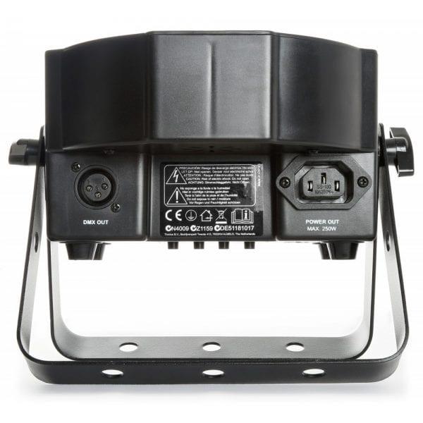 Beamz BFP110 LED PAR 56 FLATPAR 5x 6W RGB + 1x 6W UV LEDs DMX