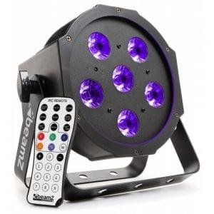 Beamz BFP130 LED PAR 56 FLATPAR 6x 6W UV LEDs DMX IRC