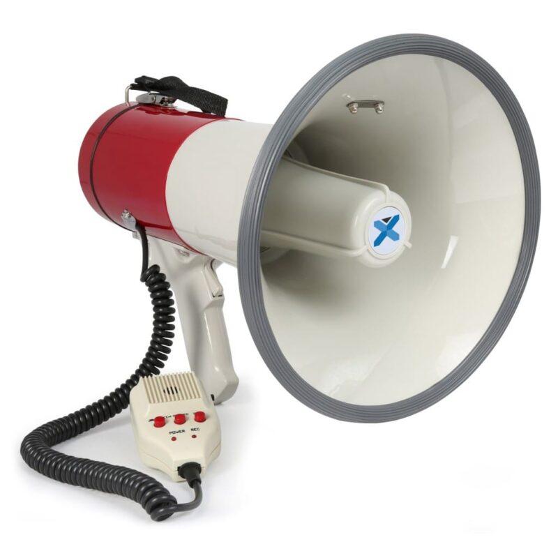 MEG050 MEGAPHONE 50W RECORD, SIREN, MICROPHONE