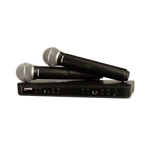 Shure BLX288E/PG58 Dual Transmitter Handheld Wireless