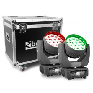 Beamz MHL1915 LED MOVING HEAD 4IN1 2PC IN FLIGHTCASE