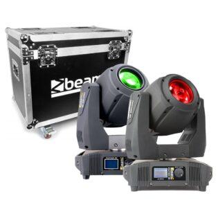 Beamz PANTHER 2R MOVING HEAD 2PC IN FLIGHTCASE