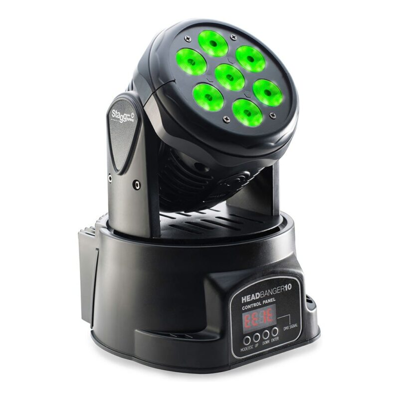 Stagg HB10 LED Moving Head with 7 x 10W RGBW 4-in-1 LEDs