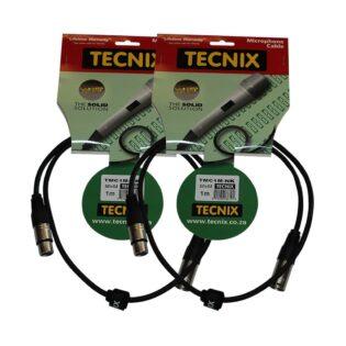 Tecnix TMC XLR-XLR 1m (2-Pack)