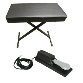 Tecnix Keyboard Bench and Sustain Pedal